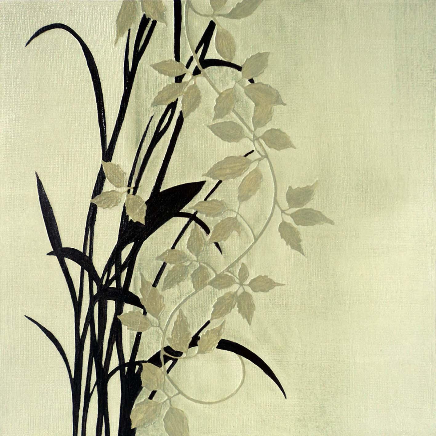 V31 Fern Green | abstract art, interior art, artwork, hand painted ...